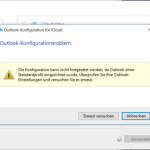 Outlook-Konfigurationsproblem – Windows 10 und iCloud für Windows Installation
