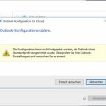 Outlook-Konfigurationsproblem – Windows 10 und iCloud für Windows Installation
