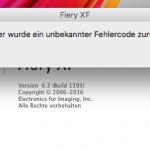 efi Fiery XF Client 6.3/6.3 unter macOS verbindet sich nicht mehr mit dem Fiery XF Server