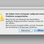 Fehlerhinweis: Sie haben Ihren Computer aufgrund eines Problems ausgeschaltet.